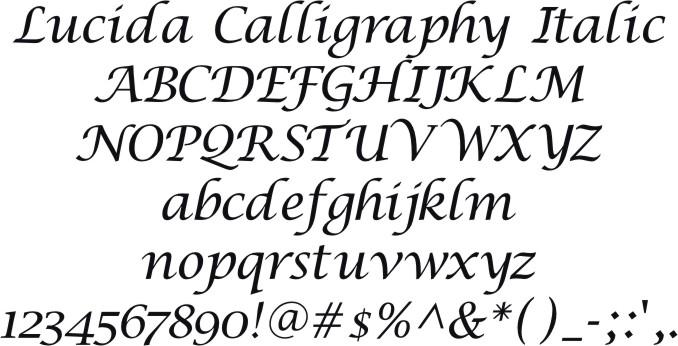 Lucida Calligraphy Free Mac